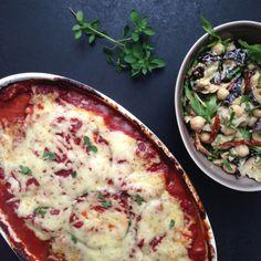 Kød fri mandag: auberginelasagne & kikærtesalat