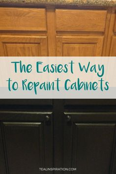 Repainting kitchen cabinets - The Easiest Way to Repaint Cabinets – Repainting kitchen cabinets Repainting Kitchen Cabinets, Painting Bathroom Cabinets, Rustic Kitchen Cabinets, Refacing Kitchen Cabinets, Cabinet Refacing, Wooden Cabinets, Diy Cabinets, Diy Kitchen, Kitchen Ideas