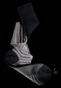 William Abraham - Luxury Socks for Men ● BLACK / SILVER