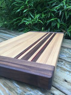 Fathers Day Cutting Board: Ash, walnut, and bloodwood