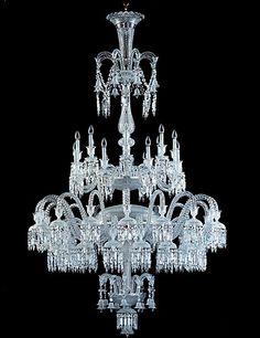 Baccarat crystal chandelier saint algue geant casino la riche