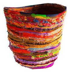 Stitched vessel by Lauren Shanley... Simply beautiful ... I wonder.. Fun to make ?? Maybe ...