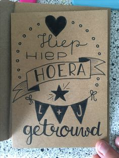 Hoera, Getrouwd | Handlettering Qreations