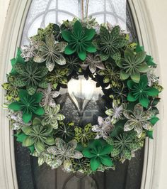 St. Patrick's Day Origami Wreath