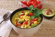 Raw Corn Chowder Blended Soup Recipe