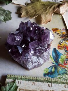 Amethyst Cluster - Large Raw Amethyst - Metaphysical Mineral This Amethyst cluster has 360 degrees of viewing pleasure. The large raw Amethyst