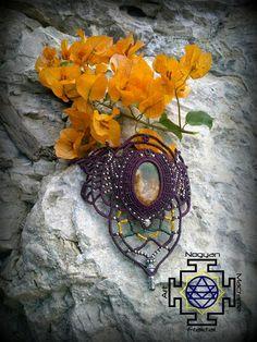 Brazalete de macrame hecho a mano con piedra por NogyanFraktal