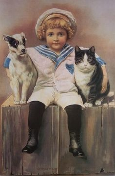 Cartes vintage enfants