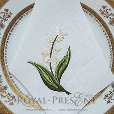 Machine Embroidery Design Lilies of the valley II