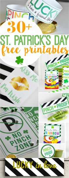 30+ St Patricks Day FREE printables! Your one stop for all things green and lucky! Lots of cute home decor ideas and fun kid activities for St Patrick's Day!!