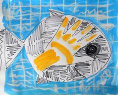 "Saatchi Art Artist MISHA DONTSOV; Drawing, ""Fish Hand"" #art"