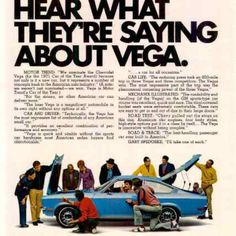 1972 Chevy Vega You Should Hear What They're Saying Vintage Ad from West Coast Vintage for $10.00 on Square Market