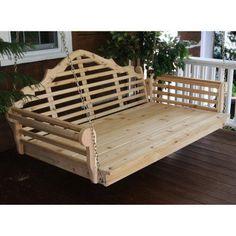 A & L Furniture Western Red Cedar Marlboro Swing Bed - 422C-OS, ALF117-15