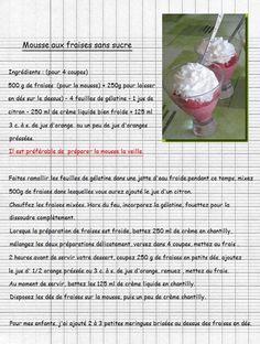 Mousse aux fraises sans sucre