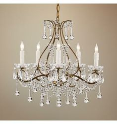 Currey and Company Paramour Smoke Gold Crystal Chandelier