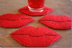 valentine crafts ...coasters...garlands...