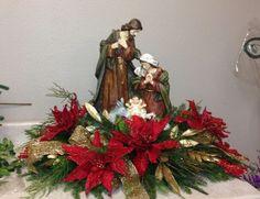 Christmas Flower Arrangements, Christmas Flowers, Christmas Holidays, Christmas Wreaths, Merry Christmas, Christmas Ornaments, Floral Arrangements, Church Christmas Decorations, Christmas Nativity Scene