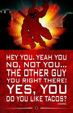 Marvel Quote Poster Deadpool, Wade Wilson