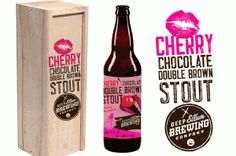 Cool label for the Cherry Chocolate Double Brown Stout from Deep Ellum Brewery