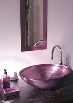 Decorated glass counter top washbasin