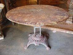 Early 1900s Metal Garden Table