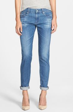 The casual style of these relaxed skinny jeans lends an effortless, yet still chic vibe.