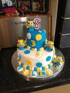 Despicable Me St Birthday Cake
