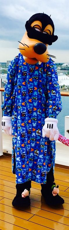 Goofy sleepwalking on the Disney Cruise Line deck