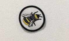 BEE PATCH / iron on patches / feminist embroidery / bee lover by halfstitchembroidery on Etsy https://www.etsy.com/listing/499258847/bee-patch-iron-on-patches-feminist