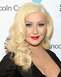 You Have to See Christina Aguilera's Major Haircolor Change: bleach blonde   allure.com