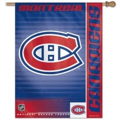 This banner is one sided. It has vibrant colors exciting graphics. Great for indoor or outdoor use. Made of a nylon material. The banner has an opening at the top to slip a stick or pole through for hanging. in size. Made By Wincraft, Inc. All Team, Montreal Canadiens, Hockey Teams, Golden State Warriors, Chicago Cubs Logo, Nhl, Vibrant Colors, Kids Room, Banner