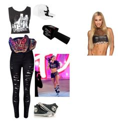 """Description"" by cupcake224-334 ❤ liked on Polyvore featuring interior, interiors, interior design, home, home decor, interior decorating, WithChic, Champion, Converse and WWE"