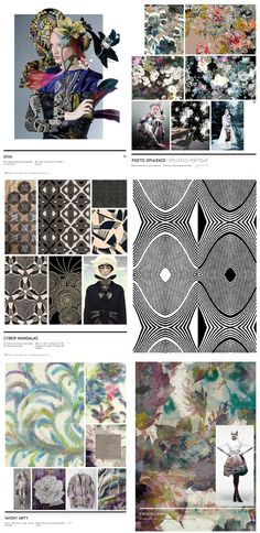 Nelly Rodi Print & Pattern A/W 2016/2017. Diva, Poetic opulence, Cyber mandalas, Smoky art.