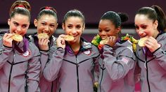 The Fab Five bring home the gold. Gymnastics: Women's Team Final - Gymnastics Slideshow #olympics