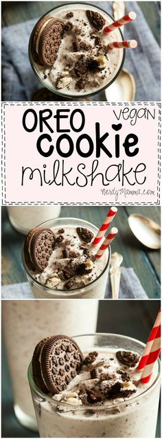 This recipe for a dairy-free vegan Oreo Cookie Milkshake sounds so easy....and tasty. I think I might have to make this over the weekend!