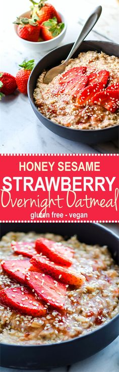 A light and energizing overnight oatmeal that is vegan, simple to make, and loaded with nourishment! Lindsay – Cotter Crunch -Read More – Healthy Fast Food Breakfast, Gluten Free Recipes For Breakfast, Healthy Gluten Free Recipes, Vegan Gluten Free, New Recipes, Healthy Eating, Free Breakfast, Vegan Breakfast, Clean Eating