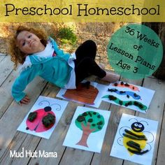 Free Homeschool Preschool Lesson Plans, Age 3 - Mud Hut Mama    She incorporates a math and science too each week. Fairly simple ideas.