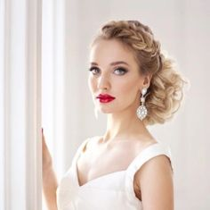 Wedding Hairstyles : Illustration Description wedding updo hairstyle for brides picture / www. Wedding Hair And Makeup, Wedding Updo, Bridal Hair, Formal Hairstyles, Bride Hairstyles, Hairstyle Ideas, Brilliant Braid, Pelo Formal, Hair Places