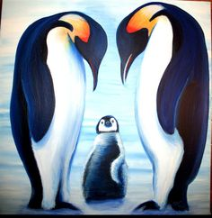 Penguin Painting (: