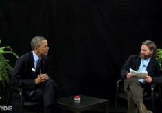 """Comedian Zach Galifianakis welcomed President Obama for a roast on his irreverent Funny or Die show """"Between Two Ferns,"""" as the President tries to reach a younger audience for Obamacare."""