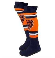 Chicago Bears Knee High Slipper Socks