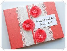 Modern Shabby guestbook.....except maybe diff colors....