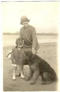Old photo with airedale.  They are such great family pets.