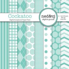 Digital Scrapbook Paper Pack  Cockatoo  Pantone by nedandcjdigital  https://www.etsy.com/listing/93428963/digital-scrapbook-paper-pack-cockatoo?ref=shop_home_active_6