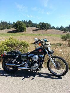 Harley-Davidson : Dyna Harley Davidson WideGlide FDXWG Black 1993 Wide Glide