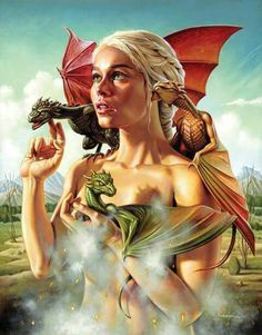 """Mother of Dragons"" by Jason Edmiston - Game of Thrones Mondo Art Show Art Game Of Thrones, Dessin Game Of Thrones, Game Of Thrones Dragons, Game Of Thrones Poster, Jason Edmiston, Breathing Fire, My Champion, Baby Dragon, Mother Of Dragons"