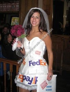 Homemade Mail Order Bride Costume Idea