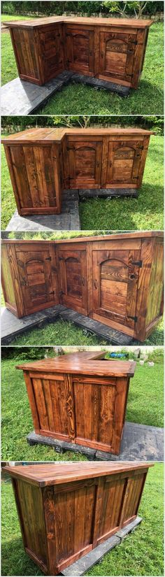 We have made this awesome storage project from recycled pallets wood. We have made cabinets in this project from old wooden pallets. You can polish the surface of this project to make it smooth and soft.