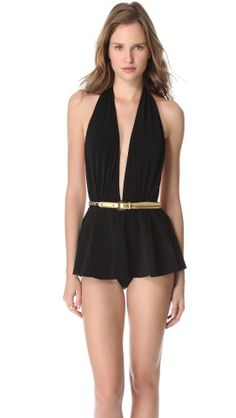 Michael Kors Collection Empire Skirted Maillot | SHOPBOP