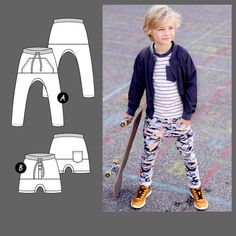 Trousers and shorts Romper Pattern, Beanie Pattern, Sewing For Kids, Baby Sewing, Scandinavian Pattern, Baby Leggings, Baby Boutique, Pdf Sewing Patterns, Shorts